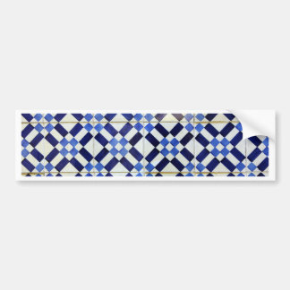 Blue and White Azulejo Adesivo Para Carro