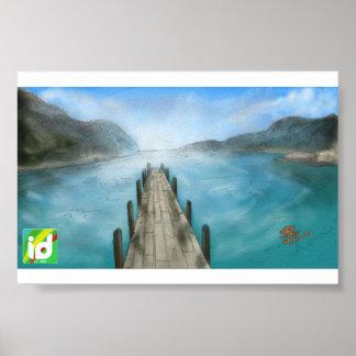 Blue Landscape - ID (Poster) Pôster
