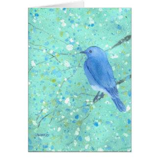 Bluebird bonito Notecard Cartão De Nota