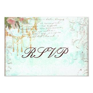 Bluebird & cartões cor-de-rosa dos rosas RSVP Convites