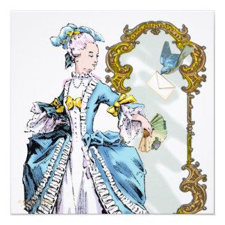 Bluebird & espelho de Marie Antoinette Convites