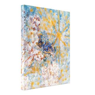 Bluebirds nas canvas de arte envolvidas galeria da