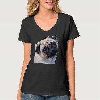 blusa v pug camisetas