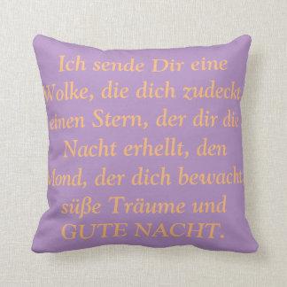 Boa Noite ditos em almofadas