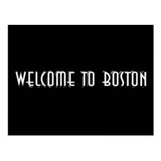 Boa vinda a Boston Cartão Postal