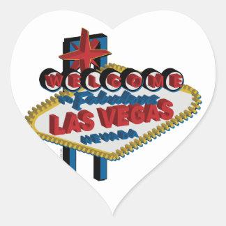 Boa vinda a Las Vegas fabuloso Adesivo Coração