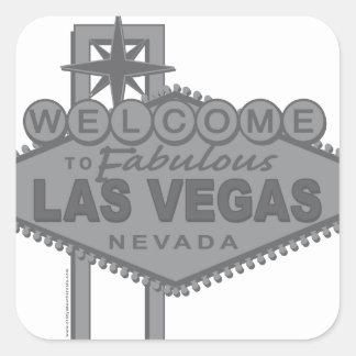 Boa vinda a Las Vegas fabuloso Adesivo Quadrado
