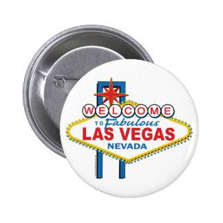 Boa vinda a Las Vegas fabuloso Bóton Redondo 5.08cm