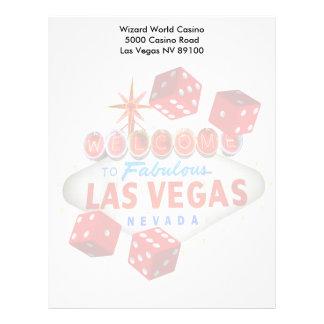Boa vinda a Las Vegas fabuloso + Cabeçalho dos dad Papel Timbrado