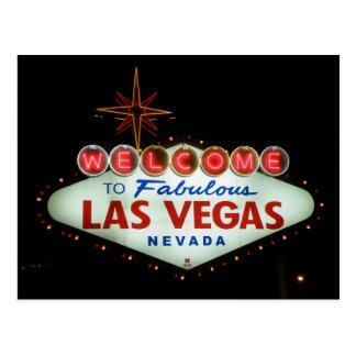 Boa vinda a Las Vegas fabuloso - Nevada Cartão Postal