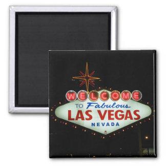 Boa vinda a Las Vegas fabuloso - Nevada Ímã Quadrado