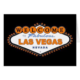"""Boa vinda a Las Vegas fabuloso """"o Dia das Bruxas Cartão Comemorativo"""
