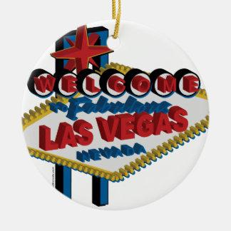 Boa vinda a Las Vegas fabuloso Ornamento De Cerâmica Redondo
