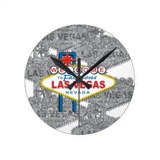 Boa vinda a Las Vegas fabuloso Relógio Para Parede