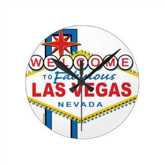Boa vinda a Las Vegas fabuloso Relógios Para Paredes