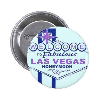 Boa vinda à lua de mel fabulosa de Las Vegas Bóton Redondo 5.08cm