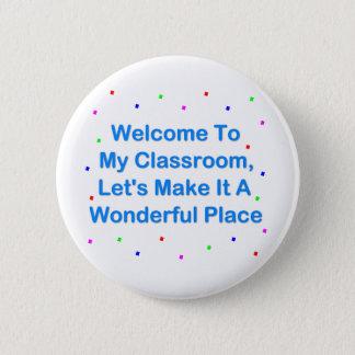 Boa vinda a minha sala de aula bóton redondo 5.08cm