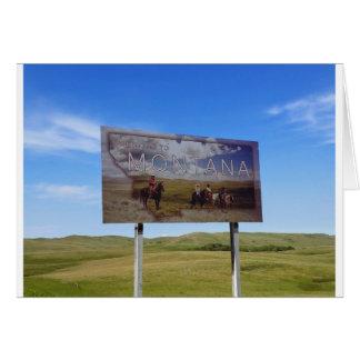 Boa vinda a Montana Cartão