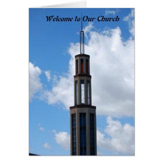 Boa vinda a nossa igreja cartão