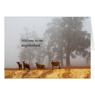 Boa vinda a nossa vizinhança cartão