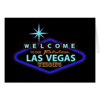 Boa vinda a nosso Las Vegas fabuloso que WEDDING o Cartão