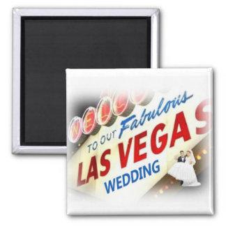 Boa vinda a nosso Las Vegas fabuloso que Wedding o Ímã Quadrado