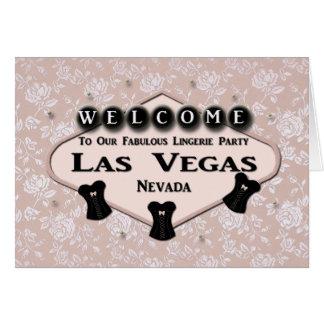 Boa vinda a nosso partido fabuloso de Las Vegas da Cartão Comemorativo