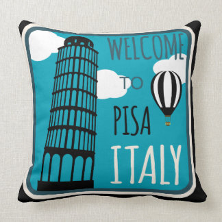 Boa vinda à torre inclinada Pisa Italia Almofada