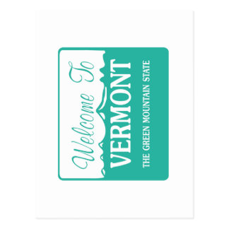 Boa vinda a Vermont - EUA Cartão Postal