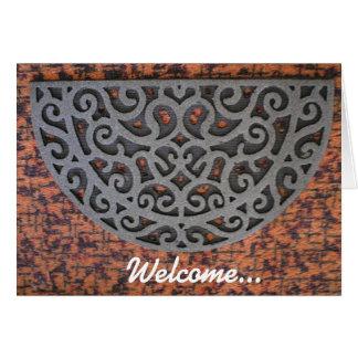 Boa vinda… a você casa nova cartão
