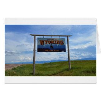Boa vinda a Wyoming Cartão