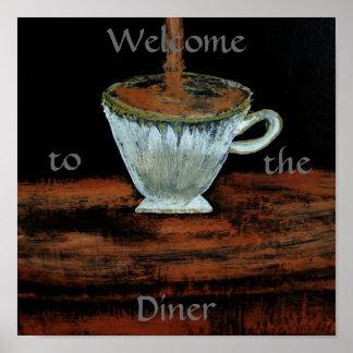Boa vinda ao poster do Teatime do comensal