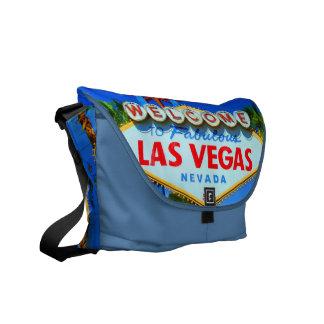 Boa vinda ao sinal fabuloso de Las Vegas Bolsa Mensageiro