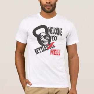 Boa vinda ao tshirt do inferno de Kettlebell