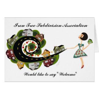 Boa vinda da associação da subdivisão cartão