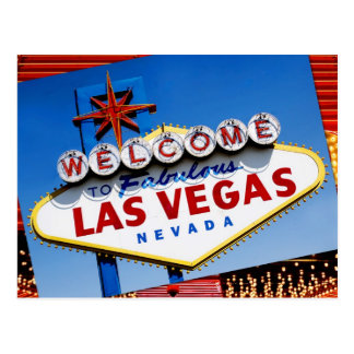 """Boa vinda o sinal de Las Vegas fabuloso"" Cartão Postal"
