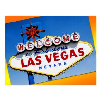 """Boa vinda o sinal de Las Vegas fabuloso"" Cartões Postais"