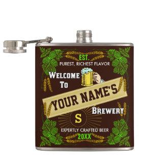 Boa vinda personalizada da cervejaria: Cerveja da Cantil