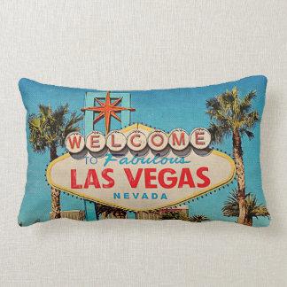 Boa vinda retro do vintage a Las Vegas fabuloso Almofada Lombar