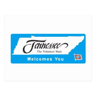 Boa vinda sinal de estrada de Tennessee - EUA Cartão Postal