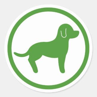 Boa vinda verde e branca dos animais de estimação adesivo