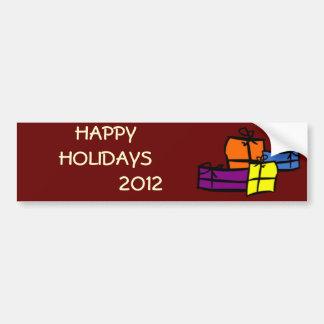Boas festas 2012 adesivo para carro