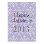 boas festas 2013 cartão postal