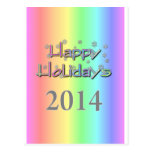 boas festas 2014a cartão postal