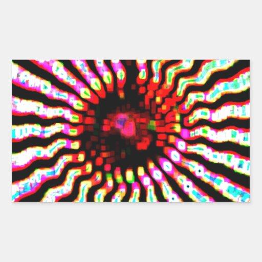 Boas festas arte da energia da faísca adesivos em formato retangulares