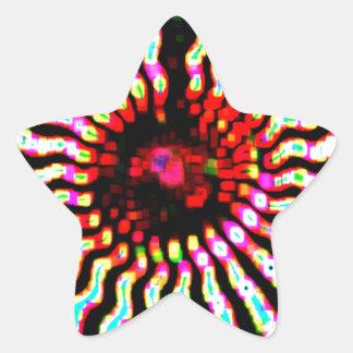 Boas festas arte da energia da faísca adesivo em forma de estrela