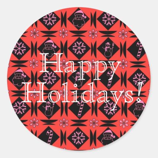 Boas festas! adesivos em formato redondos