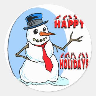 Boas festas boneco de neve adesivo