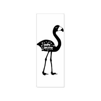"""""""Boas festas"""" carimbo de borracha do flamingo,"""
