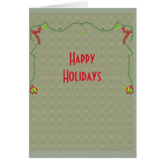 Boas festas cartão